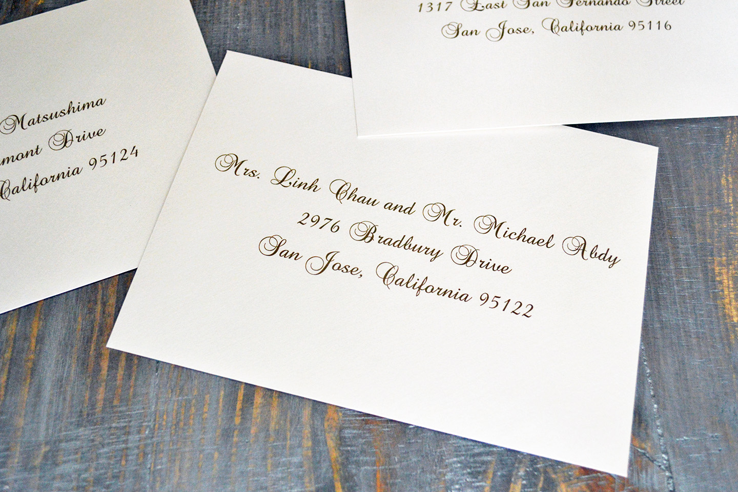 Addressing Outer Envelopes Today S Weddings