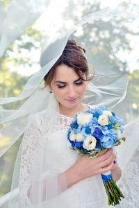 Wedding blue bouquet